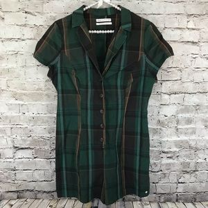 Urban Outfitters Green Plaid Romper